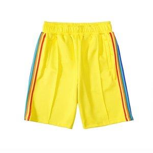 20ss delle donne degli uomini del progettista breve lettera pantaloni vestiti stampa striscia arcobaleno tessitura casuale cinque punti casuale Beach Shorts DC563366