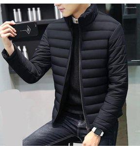 Warm Designer Casual-Jacke Men Licht Oberbekleidung neue Art und Weise Männer Kleidung Männer Stehkragen Winterjacke