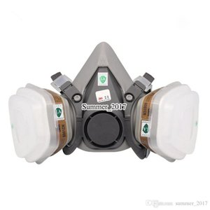 7 1 takım elbise İÇİNDE 6200 Maske Gaz Vücut Kimyasal Maskeleri Toz Filtresi Toz Kimyasal Gaz Yarım yüz Mask Sprey Boya Maske