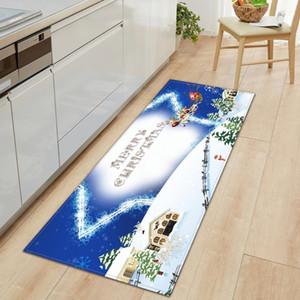 Weihnachten Küche Mat Eingang Fußmatte Schlafzimmer Nacht Dekorative Teppich Haus Balkon Flur Lange Bodenmatte Bad Anti-Rutsch-Teppich