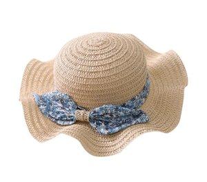 SAGACE Yaz Ebeveyn-çocuk Hasır Şapka Prenses Kız ilmek Kepçe Güneş Koruma Şapka Açık Balıkçı Plajı Cap