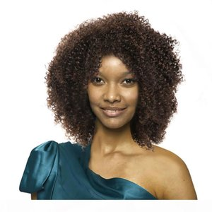 human Hair wigs Short Human Hair Capless Wigs Afro Kinky Curly 4#Color Virgin Hair Short bob Wigs For Black Women Top quality