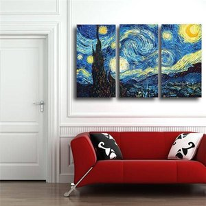 Printed Masters Starry Night Vincent Van Gogh Prints Reputation Oil Painting On Canvas Wall Art Picture For Living Room Picture