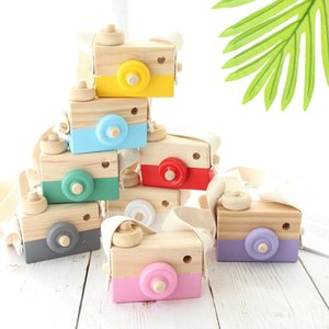Cute Wooden Toy Camera Baby Kids Hanging Camera Photography Prop Decoration Children Educational Toy Birthday Christmas Gifts DHB2038