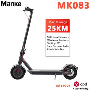 حار بيع سكوتر الكهربائية 8.5inch MK083 الذكية الدراجات APP بلوتوث 7.8AH البطارية 250W رمادي طوي سكيت 1: 1 XM لوحة E-الدراجة