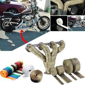 1.5mm * 25mm * 5m Otomobil Motosiklet Yanmaz Turbo Manifold Isı Egzoz Wrap Bant Termal Paslanmaz Bağları