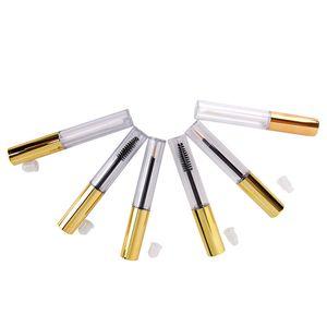 Hot 1x Wimpernrohr + 1x Eyeliner Rohr + Lip Gloss leeren Cosmetic mit Wand-Trichtern Gummieinlagen DIY Container