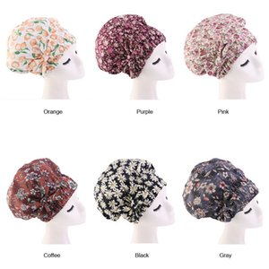 Women Sleep Hat Muslim Bow Femme Musulman Cancer Chemo Beanie Turban Wrap Scarf Cap Islamic Head Cover Hair Loss Hats