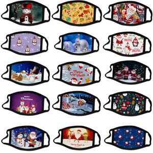 Halloween Weihnachten individuelle Gesichtsmaske Masque Weihnachtsdekorationen Cartoon Masken Kind Erwachsener mascherina Baumwolle wiederverwendbar waschbar Maske