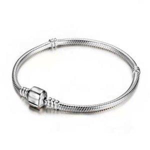 클래식 간단한 뱀 체인 여성 팔찌 팔찌의 매력 실버 컬러 커프 액세서리 보석 소녀 선물 16CM-23CM