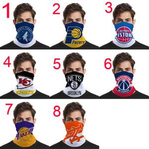Los nuevos diseños de baloncesto Marca de bicicletas medias máscaras faciales Ciclismo Pañuelos Bufanda de lujo de la máscara de la venda Headwear Mutilfunction cabeza bufandas