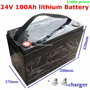 Waterproof 24V 100AH Lithium ion Battery Electric bicycle Solar Golf Car lipo for Forklift fork + 29.4v 10A Charger