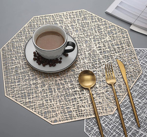 Household Modern PVC Hollow Out Place Mats And Coasters Dining Table Placemats Non-Slip Diningroom Table Plate Pad Home Decor