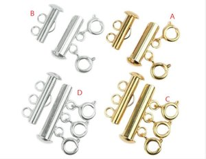 New Stainless Steel Spring Buckle End Clasps With Chains Lobster Clasps For Necklace Bracelet Double three Breasted DIY Jewelry