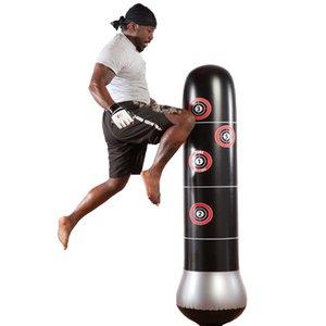 Pressão de boxe Punching Bag inflável Tumbler Muay Thai Training Relief Bounce Back Sandbag ferramenta de fitness bomba de ar