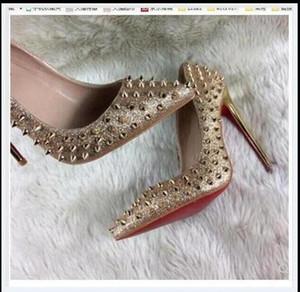 cuir rouge fond Free shipping femmes de la mode Lady bureau classique pompes photo réelle turquoise brevet cône bout pointu chaussures de talons hauts bottes