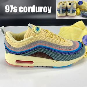 Alta qualità Sean Wotherspoon x 1 97s vf mens ibrido di velluto a coste sw scarpe da corsa degli uomini di modo delle donne delle scarpe da tennis US 5,5-11