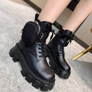 Donne Milano Motorcycle Boots Ladies Leather Pelle Rimovibile Keycase Rois Boots Unico nuovo Photom Bottom Knight Martin Boot Scarpe Casual Scarpe da ginnastica