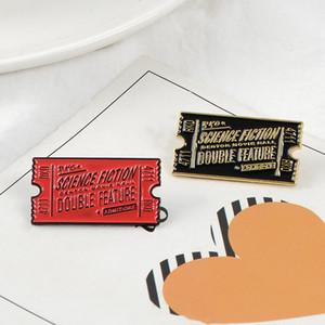Rocky Horror Pin Movie Ticket Эмаль Pin Rocky Horror Picture Show Брошь штыри отворот знак киноролик подарок ювелирных изделий для женщин мужчин