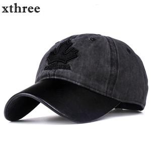 sombrero Xthree tapa de las mujeres de Canadá del béisbol bordado Carta snapback Hombres Cap Gorras casquette