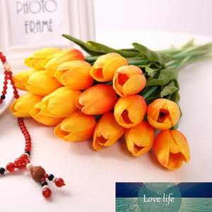 Latex Tulips Artificial PU Flower Bouquet Real Touch Flowers for Home Decoration Wedding Decorative Flowers 11 Colors Option LX5932