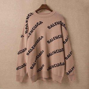 2020 nuevos diseñadores para hombre suéter de moda estilo hip hop estilo alto collar solapa mujeres 100% lana suéter de lujo algodón abrigo casual