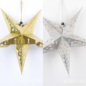 Produkte Laserpapier dreidimensionale fünfzackigen Festival Decke Yiwu Dekorative Produkte Laser-Sternpapier dreidimensionale Fünf-Punkte