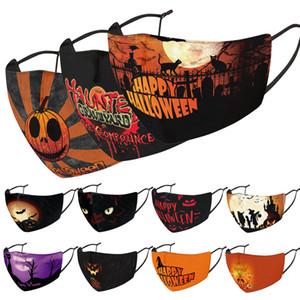 3D boyutlu maske yıkanmış ve maske yeniden kullanılabilir toz geçirmez Cadılar Bayramı yüz maskesi tasarımcı yüz maskeleri Noel kafatası PM2.5