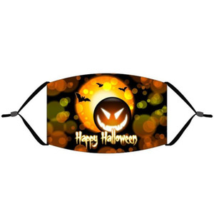Hot Item Halloween Face Masks Children Cotton Dust-proof Washable Mask with Filter for Adults Children with Opp Bag