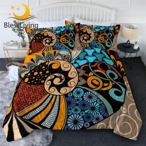 BlessLiving Tribal Bedding Ethnic Summer Blanket African Duvet Air-conditioning Comforter Swirl Bedspreads colcha de cama casal