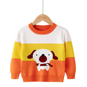 2020 Winter New Kids Sweaters Toddler Girl Christmas Sweater Boys Cartoon Pattern Print Pullovers Clothes