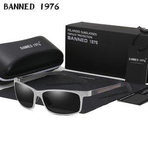 Masculino Oculos Cool Banned Banned Polarized Lunettes de soleil 1976 Magnésium Sun Lunettes Hommes Verres HD Conduite pour Hommes Shades Aluminium Mâle Oawpx