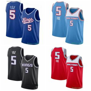 Herren Sacramento.Kings.Jersey 5 De'aaron Fox Jersey Jason 55 Williams Basketball Jersey Shorts 2020 0912 NEU