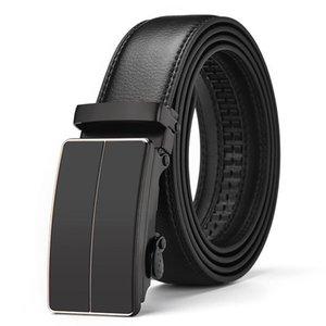 [LFMB] Gürtel männlich Ledergürtel Männer Gürtel Mann-echtes Leder-Bügel automatische Schnalle ceinture homme Gurt freies Verschiffen