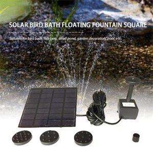 Fashion Square Form Sonnenkollektor Wasserpumpe Kit Brunnen Pool Gartenteich Submersible Bewässerung Vogel-Bad-Behälter Set Drop Shipping