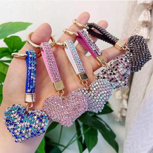 전체 드릴 특수 FNE 작은 만화 귀여운 열쇠 고리 핸드 메이드 다이아몬드 모자이크 가방 펜던트 열쇠 고리 선물 회화 다이아몬드 모양의