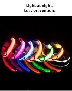 LED Luminous Nylon Pet Dog Collar Night Safety LED Flashing Pet Dog Collar With USB Charging Cable Dog Blinking