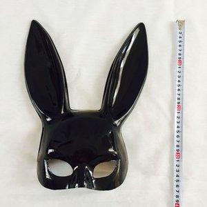 Seksi Tavşan Kulak Kadınlar Siyah Kız Beyaz sevimli tavşan Uzun Kulaklar Cadılar Bayramı Masquerade Partisi Cosplay Kostüm Prop DBC Vt0942 Maske esaret