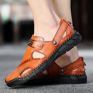 Classic Mens Gladiator Sandals Summer Fashion Outdoor Man Beach Slippers Men's Beach Sandals Comfortable Soft Men cs03