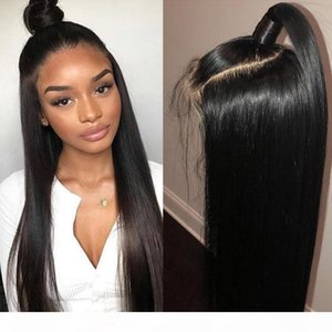 Big Sale 360 Lace Frontal Wigs Pre Plucked With Baby Hair Remy Lace Front Human Hair Wigs Peruvian Straight Hair Bob Wigs