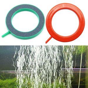 Pet Products Aquarium Fish Round Tank Ring Air Stone Pump Bubble Disk Oxygen Plate Silicon carbide &Plastic Ornament 10cm