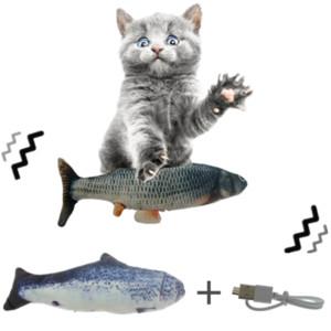 USB juguete del gato 30CM mascotas de carga eléctrica en movimiento Bailar Simulación de disquete de peces gatos Juguete para el gato juega Dropshipping perro interactivo