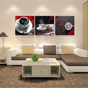 3 Группа Современные Натюрморт Картины Печатные Кофейные Картина на холсте Картина для гостиной Кухня украшения стены Куадросу