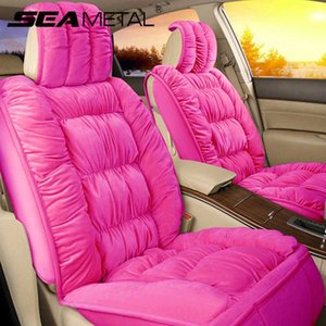 Engrosse Warm Winter Plush Car Seat Seat Cover Universal Super Macio completa Protector Pad Anti-derrapante Mat Auto Acessórios Interior