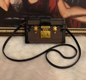 2020 Wholesale caixa de desenhista original Petite Malle bolsas de noite sacos de couro caixa de moda embreagem de embreagem messenger bolsa de ombro 43596