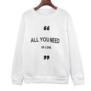 Hot Sale womens designer season long sleeve printed plus velvet loose pullover sweater jacket women