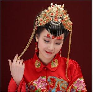 Couvre-chef de mariage, robe de mariée, des toasts, robe de mariée, cheongsam style chinois, dragon et Phoenix robe.