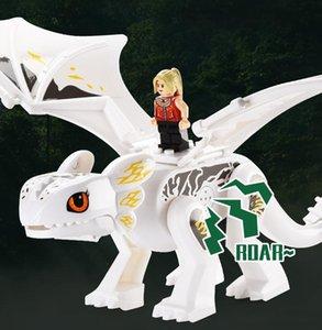 Blocs Bâtiment Dragon DIY Action Puzzle Assemblée Simulée Novelty World Dinosaurs Dinosaures Poupées Dinosaure Boy Briques Jouets Woddd