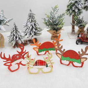 Mädchen Weihnachten Stirnband und Gläser Dekoration Niedlich Flitter Geweih Erwachsene Kinder-Weihnachtsfest-Party Props