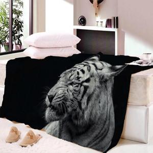Watercolor Lion Tiger Print Soft Throw Blanket Wall Bedspread Beach Towel Pad Blanket Table Beach Towel Wool Throw Blankets
